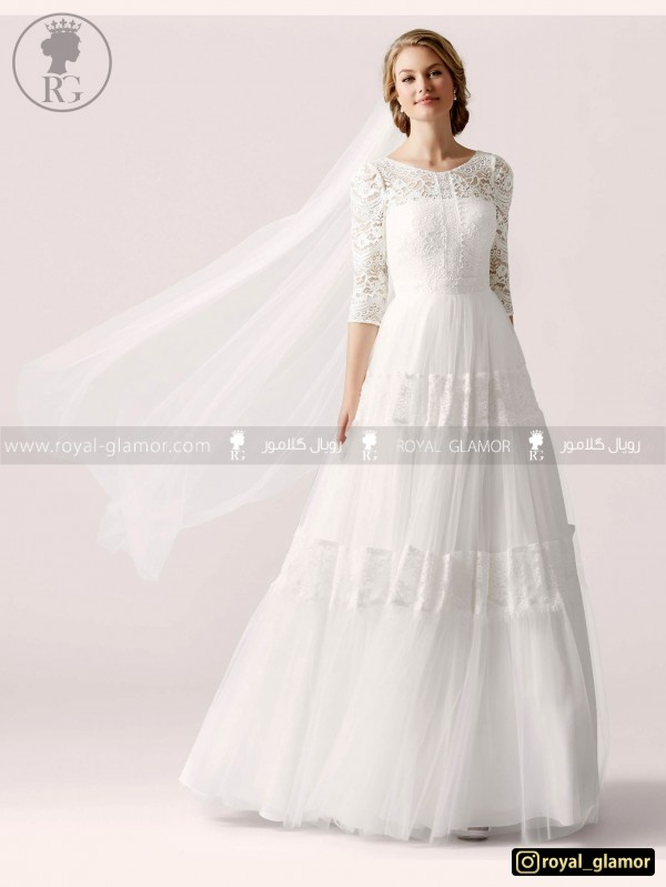 لباس عروس رویال گلامور کد RG2803