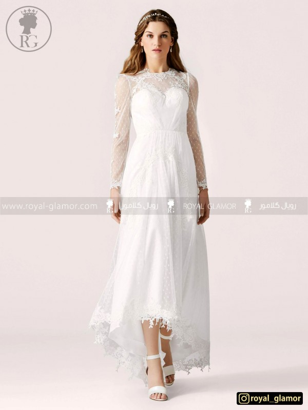 لباس عروس رویال گلامور کد RG2802