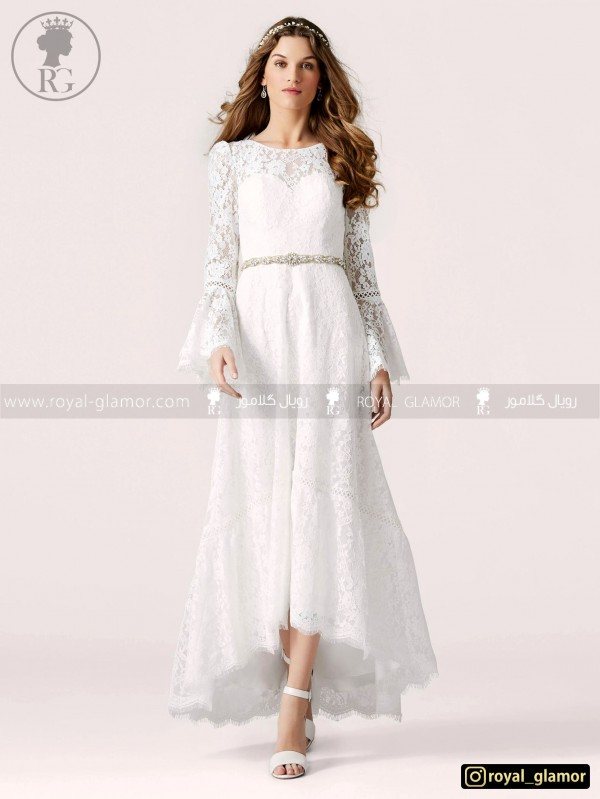 لباس عروس رویال گلامور کد RG2801