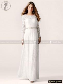 لباس عروس (استایل boho) رویال گلامور کد RG2804