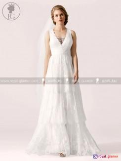 لباس عروس (استایل boho) رویال گلامور کد RG2805