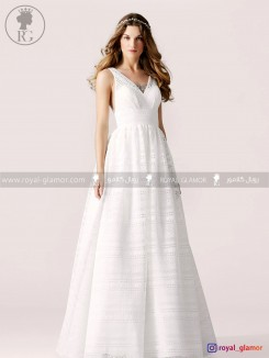 لباس عروس (استایل boho) رویال گلامور کد RG2807