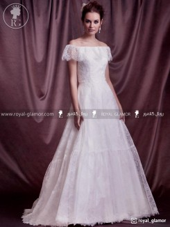 لباس عروس رویال گلامور کد RG2809