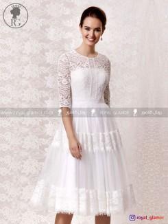 لباس عروس کوتاه (استایل boho) رویال گلامور کد RG2811
