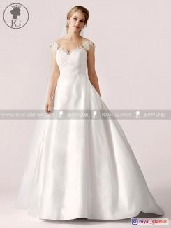 لباس عروس رویال گلامور کد RG2817