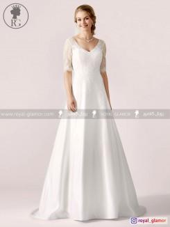 لباس عروس رویال گلامور کد RG2818