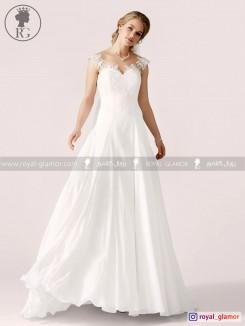 لباس عروس رویال گلامور کد RG2819