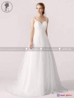 لباس عروس رویال گلامور کد RG2820