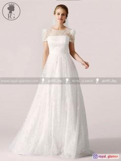 لباس عروس رویال گلامور کد RG2821