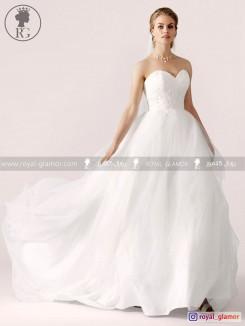 لباس عروس رویال گلامور کد RG2824