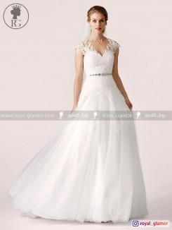 لباس عروس رویال گلامور کد RG2825