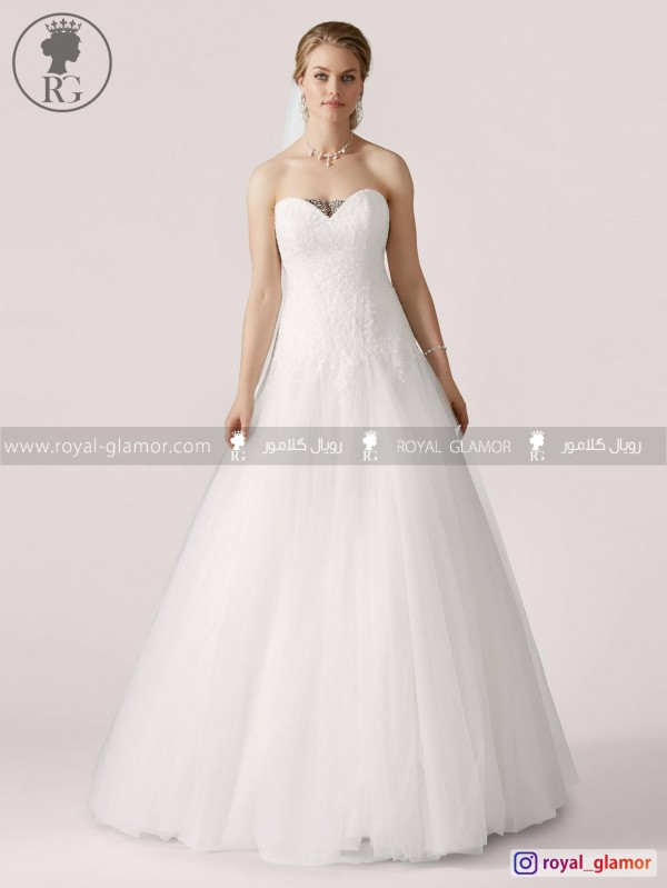 لباس عروس رویال گلامور کد RG2827