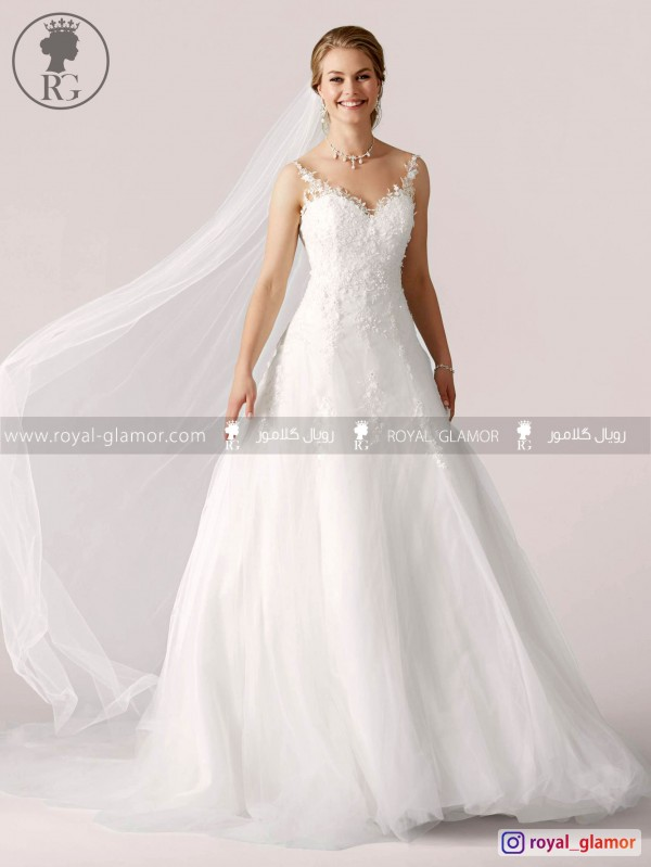 لباس عروس رویال گلامور کد RG2828