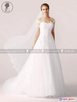 لباس عروس رویال گلامور کد RG2829