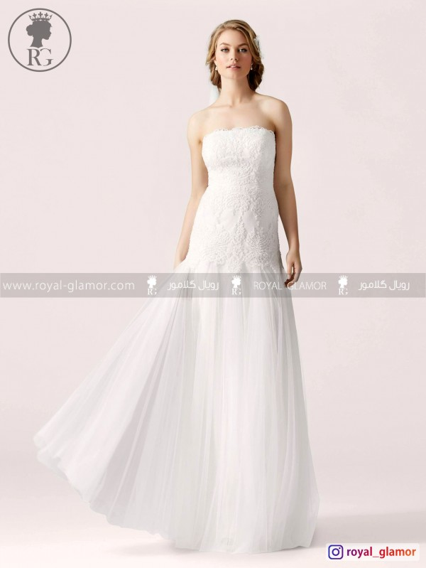 لباس عروس رویال گلامور کد RG2840