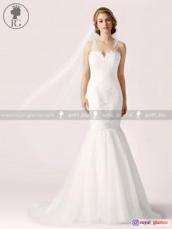 لباس عروس رویال گلامور کد RG2841