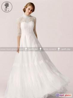 لباس عروس رویال گلامور کد RG2843