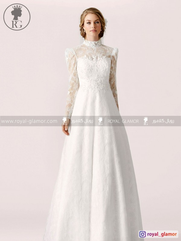 لباس عروس رویال گلامور کد RG2842
