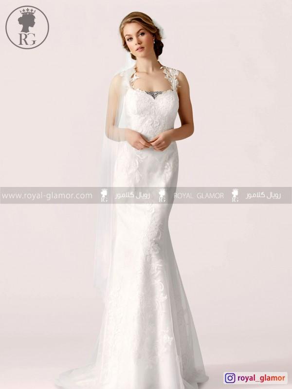 لباس عروس رویال گلامور کد RG2844