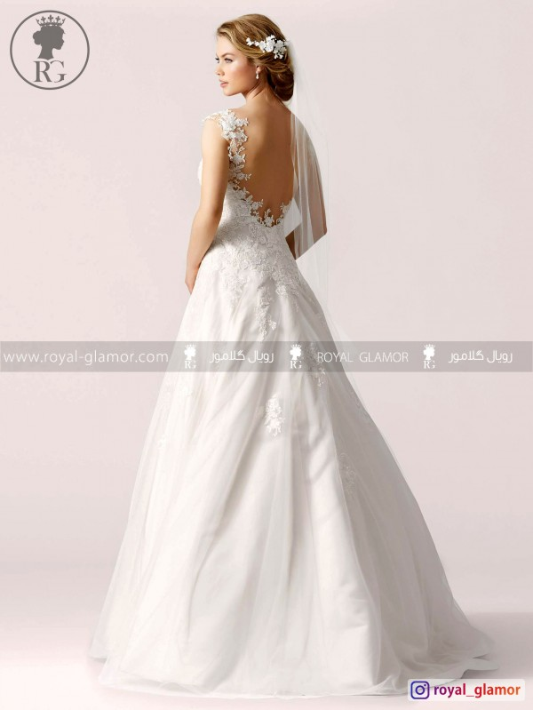 لباس عروس رویال گلامور کد RG2846