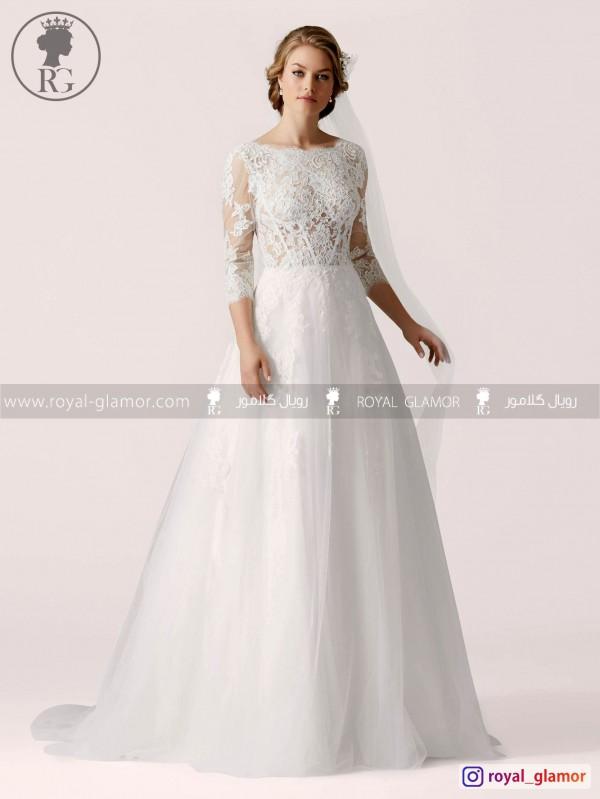لباس عروس رویال گلامور کد RG2848