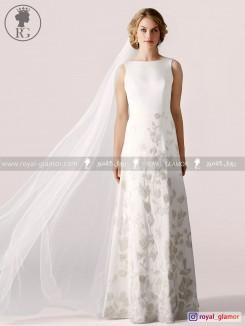 لباس عروس رویال گلامور کد RG2850
