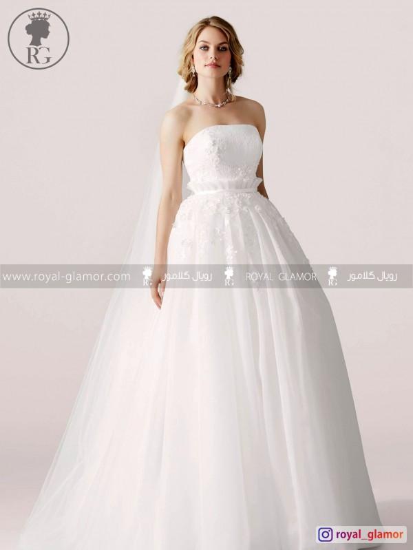 لباس عروس رویال گلامور کد RG2851