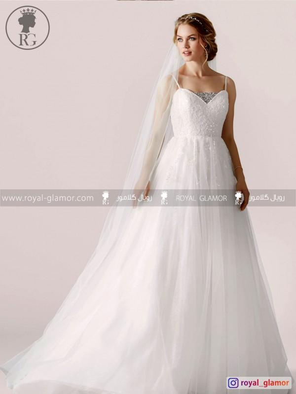 لباس عروس رویال گلامور کد RG2853