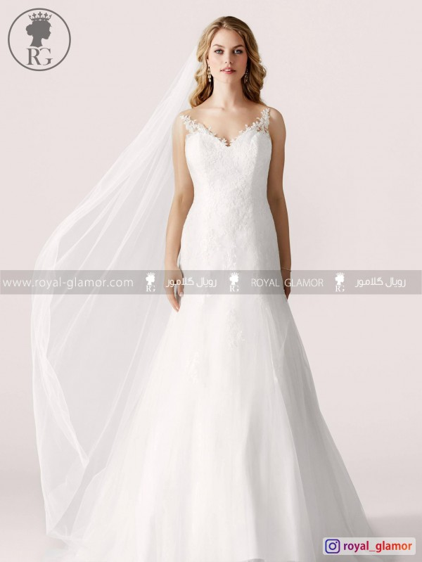 لباس عروس رویال گلامور کد RG2855