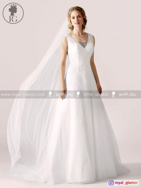 لباس عروس رویال گلامور کد RG2858
