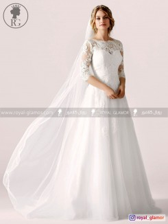 لباس عروس رویال گلامور کد RG2859