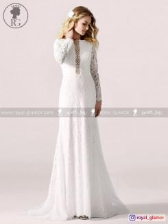 لباس عروس رویال گلامور کد RG2864