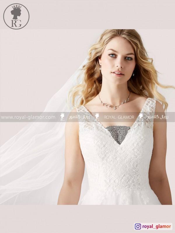 لباس عروس رویال گلامور کد RG2867