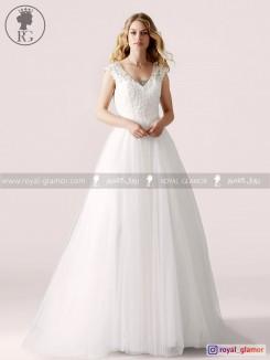 لباس عروس رویال گلامور کد RG2868