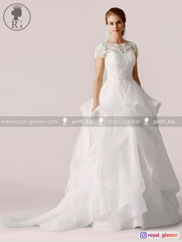 لباس عروس رویال گلامور کد RG2870