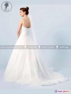 لباس عروس رویال گلامور کد RG2872
