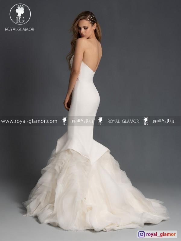 لباس عروس مدل ماهی با دامن پفی