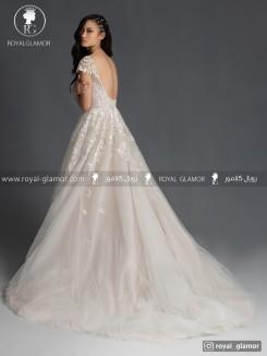 لباس عروس یقه باز بلند