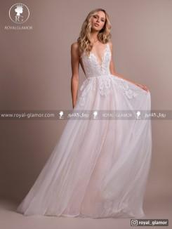 لباس عروس بلند گیپور