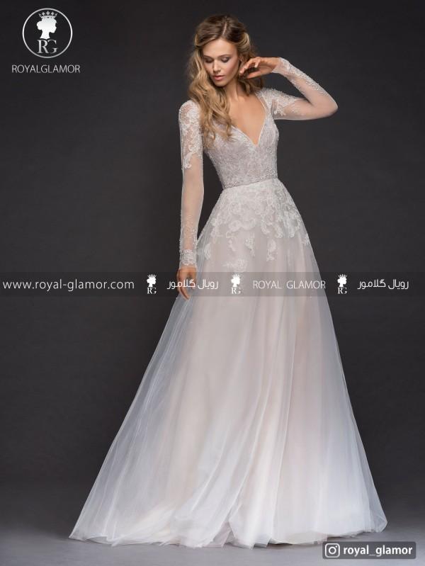 لباس عروس گیپور و مروارید