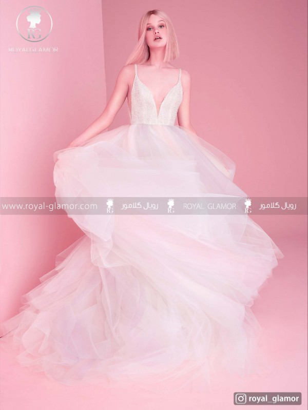 لباس عروس رنگین کمان