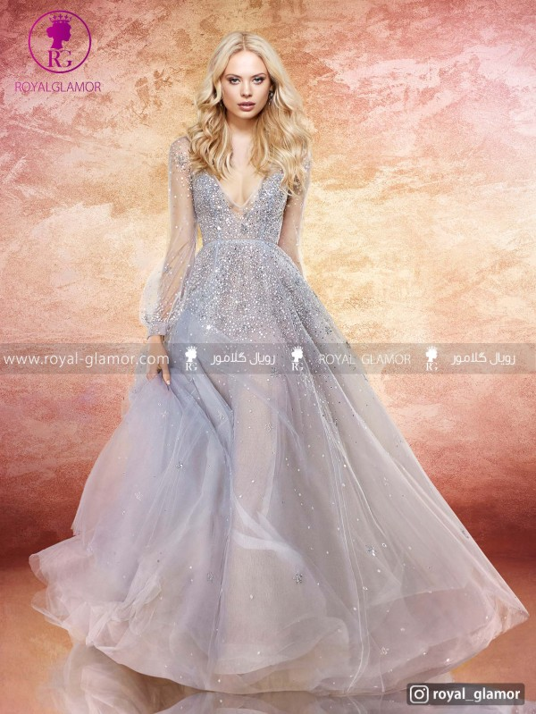 لباس عروس دامن دنباله دار