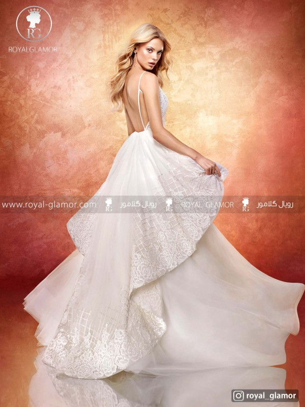 لباس عروس دو دامنه