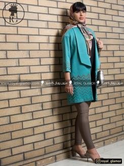 مانتو مجلسی زنانه کوتاه رویال گلامور کد RG1619