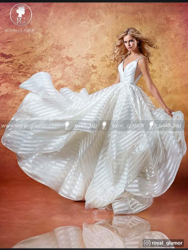 لباس عروس راه راه