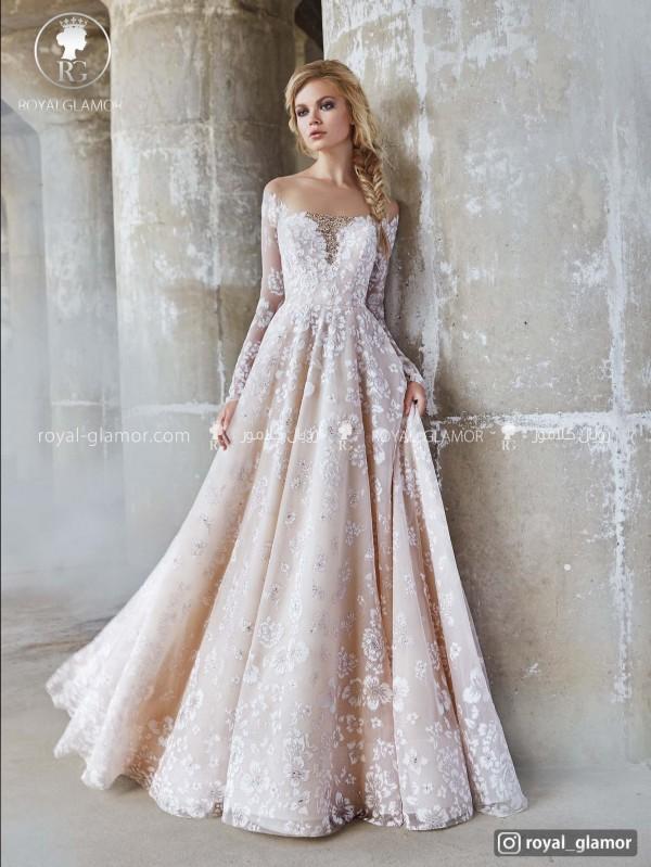 لباس عروس گیپور دار