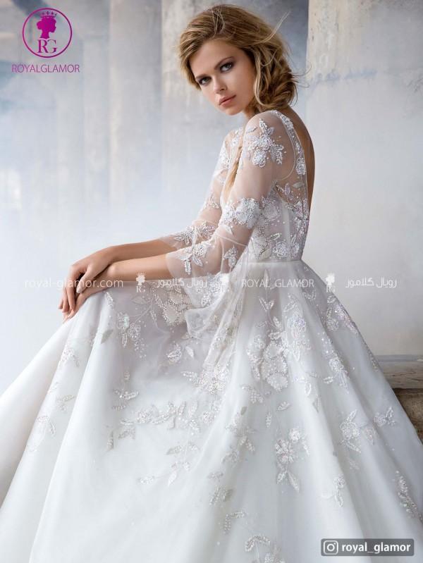 لباس عروس گلدار