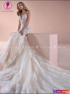 لباس عروس دامن کلوش ۲۰۱۹