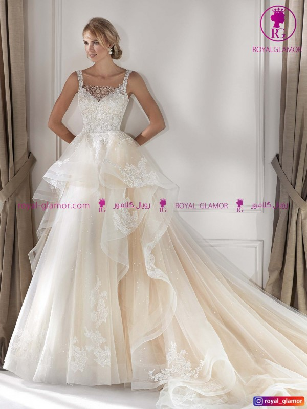 لباس عروس دامن پفی جدید