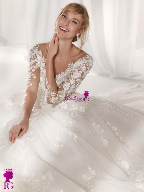 مدل لباس عروس آستین دار 2020